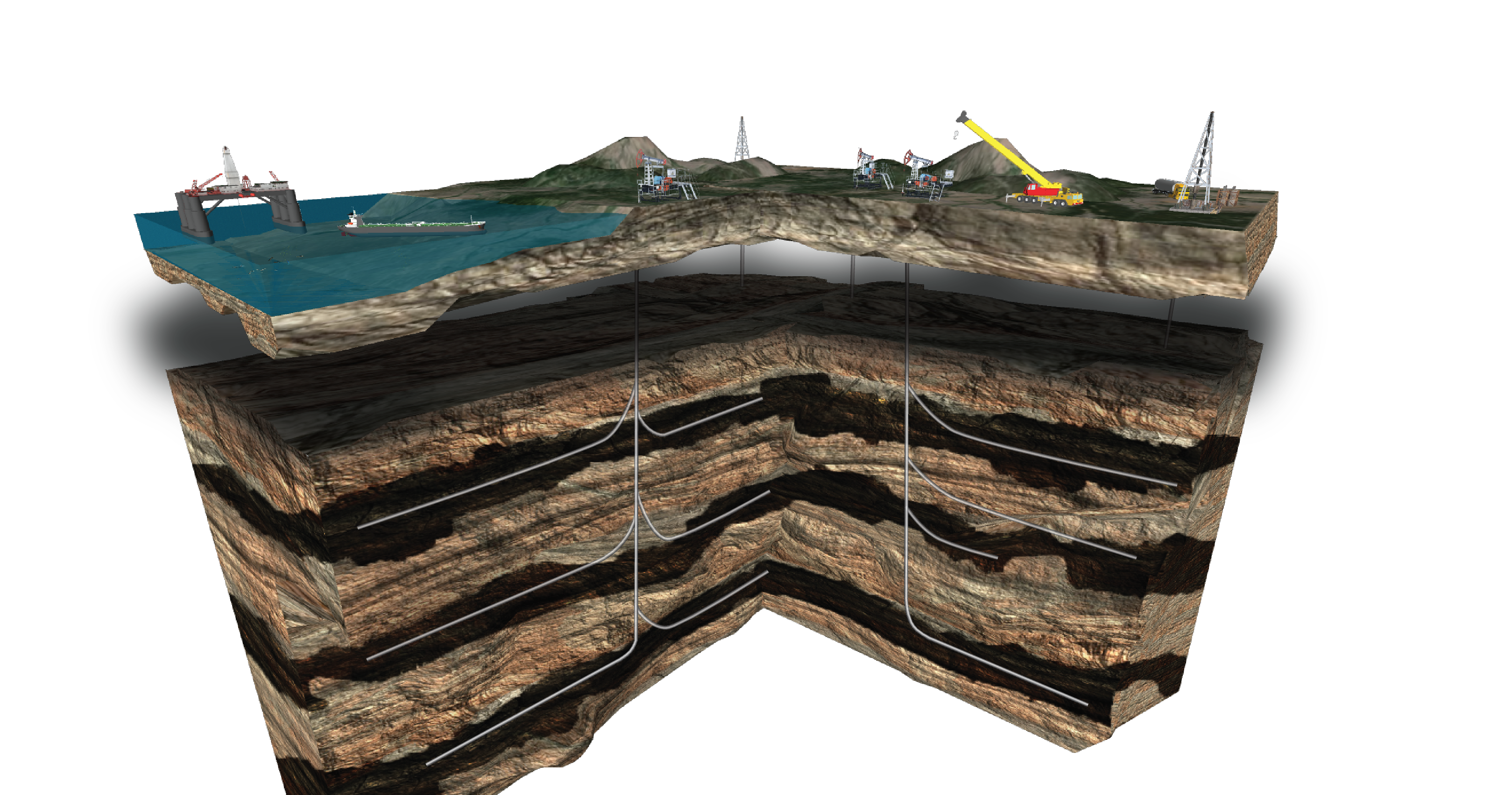3d oilfield with strata application